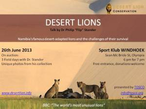 Desert Lion Talk WDH
